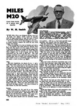 Miles M-20 model airplane plan