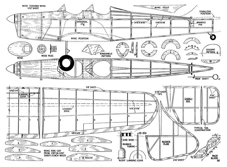 Miles Magister model airplane plan