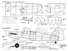 Miles Master 23in model airplane plan