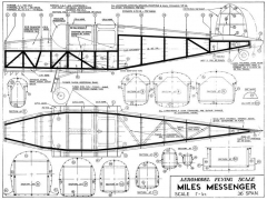 Miles Messenger model airplane plan