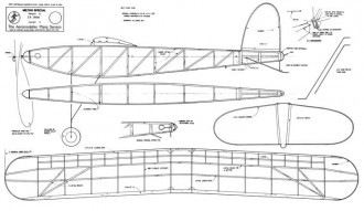 Milton Special 1935 model airplane plan