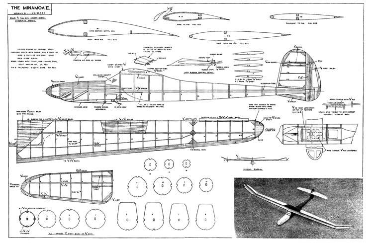 Minamoa II model airplane plan