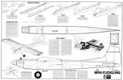 Mini-Fledgling model airplane plan
