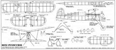 Mini-Pinocchio CO2 model airplane plan