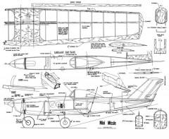 MiniMissle-HH255 model airplane plan