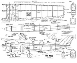MiniMissle-HH255 model airplane plan