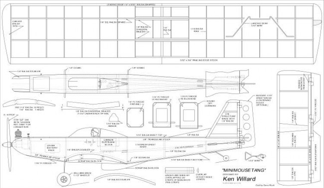 MiniMouseStang model airplane plan