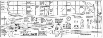 Mini Ambassador model airplane plan