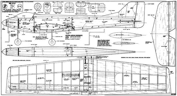 Mini Atlas model airplane plan