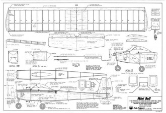 Mini Bell 25in model airplane plan