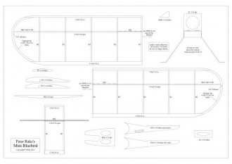 Mini Bluebird model airplane plan