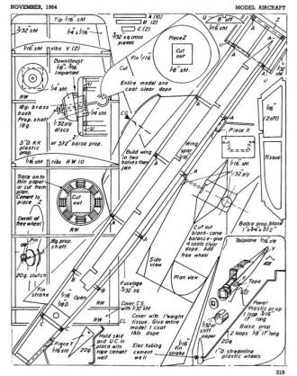 Mini Master model airplane plan