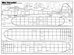 Mini Thermalist model airplane plan
