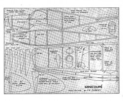 Minicoupe model airplane plan