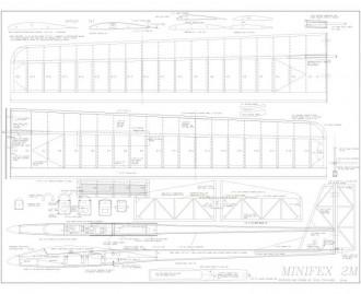 Minifex 2M Sailplane model airplane plan