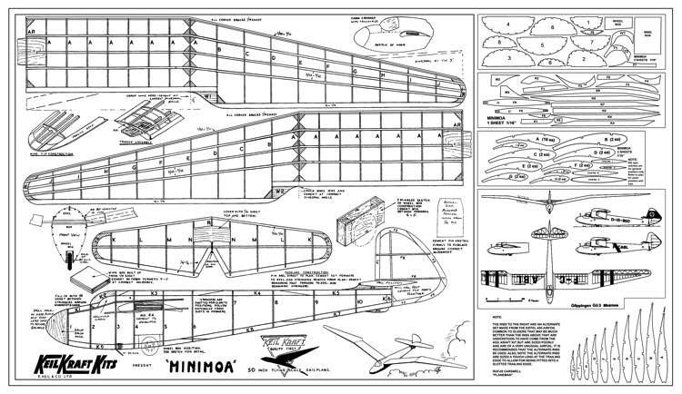 Minimoa2 model airplane plan