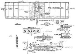 The Minimum model airplane plan
