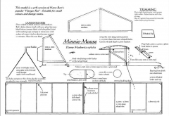 Minnie Mouse model airplane plan
