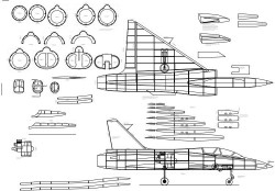 Mirage 2000 model airplane plan