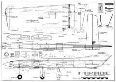 Mirage CL model airplane plan