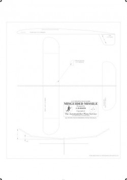 Misguided BW Print model airplane plan