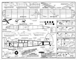 Miss America II 20in model airplane plan