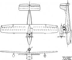Miss Grandin p0 model airplane plan