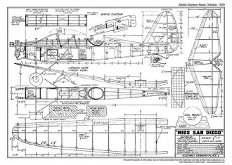 Miss San Diego model airplane plan