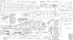 Miss Sandy 44in model airplane plan