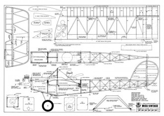 Miss Vintage 59in model airplane plan