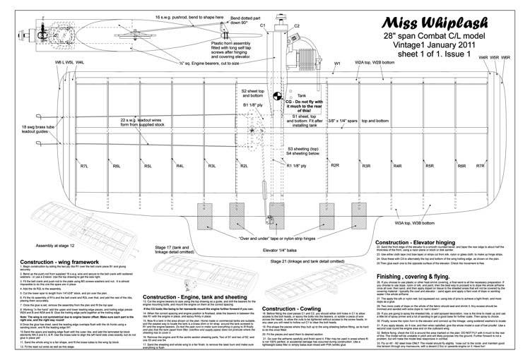 Miss Whiplash model airplane plan