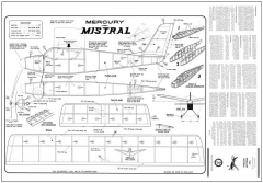 Mistral Mercury 24in model airplane plan