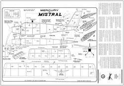 Mistral Mercury 24in model airplane plan
