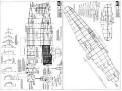 Mitsubishi Ki15 model airplane plan