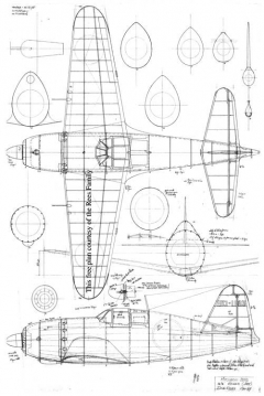 Mitsubishi Jack J2M3 26 model airplane plan