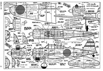 Mitsubishi Zero AT model airplane plan