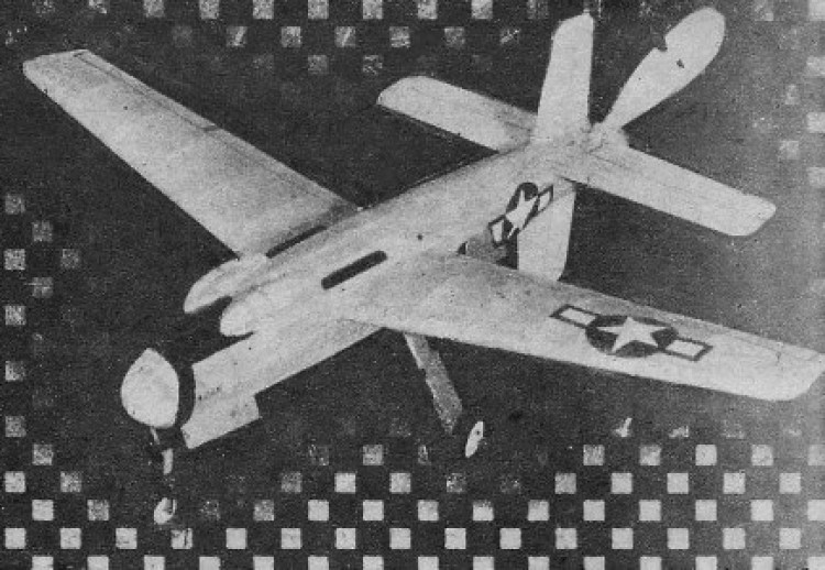 MixMaster XB-42 model airplane plan
