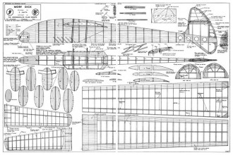 Moby Dick 82in model airplane plan