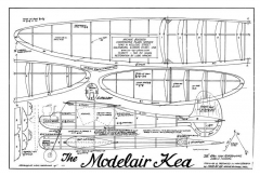 Modeliar Kea model airplane plan