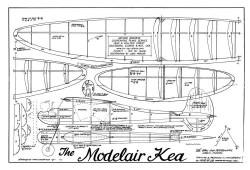 Model Air Kea model airplane plan
