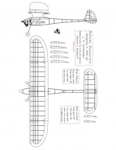 Mohawk Buzzard model airplane plan