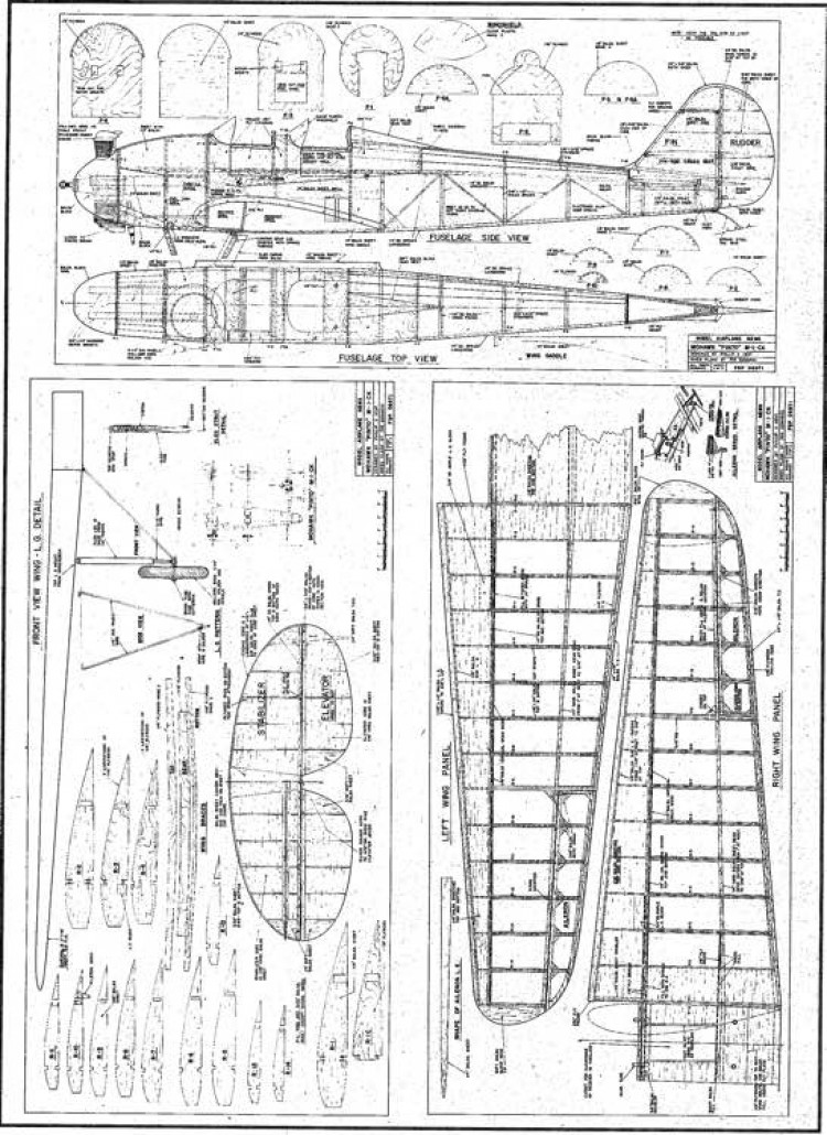 Mohawk Pinto model airplane plan