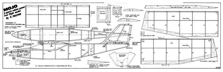 Mojo model airplane plan