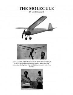 Molecule model airplane plan