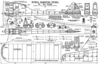 Petrol Duration Model model airplane plan