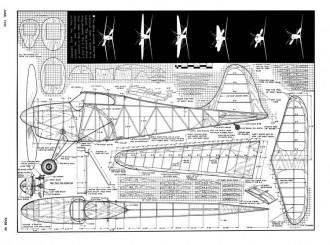 Mono-Bipe model airplane plan