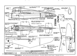 Mono Missile model airplane plan