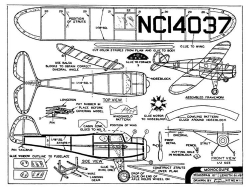 Monocoupe 10in model airplane plan