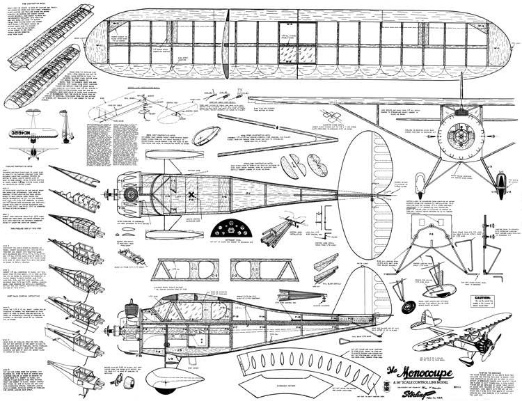 Monocoupe 36in Sterling model airplane plan