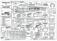 Monocoupe CL model airplane plan